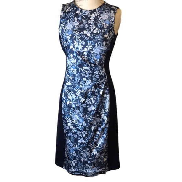 J McLaughlin Marissa Dress Amelia Floral Blue NWT